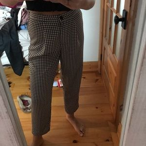 Squared baggy pants